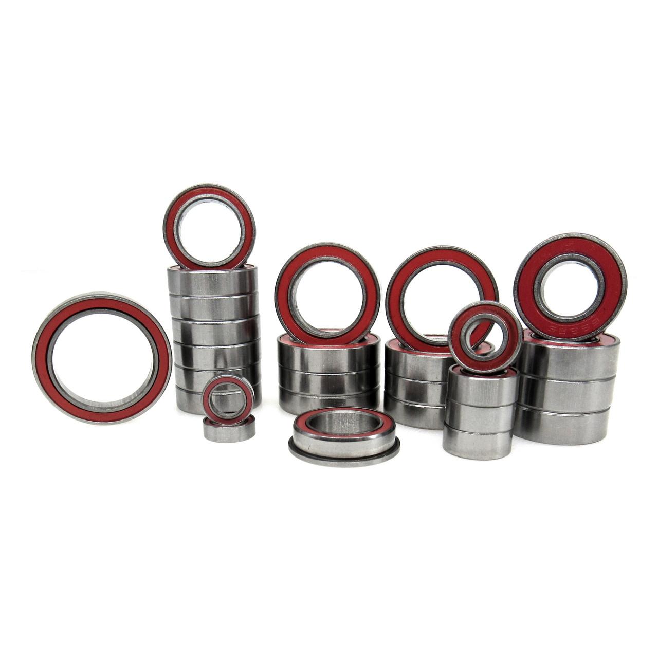 Arrma Kraton 4S BLX Hybrid Ceramic Bearing Kit Rubber Seals Red (26)