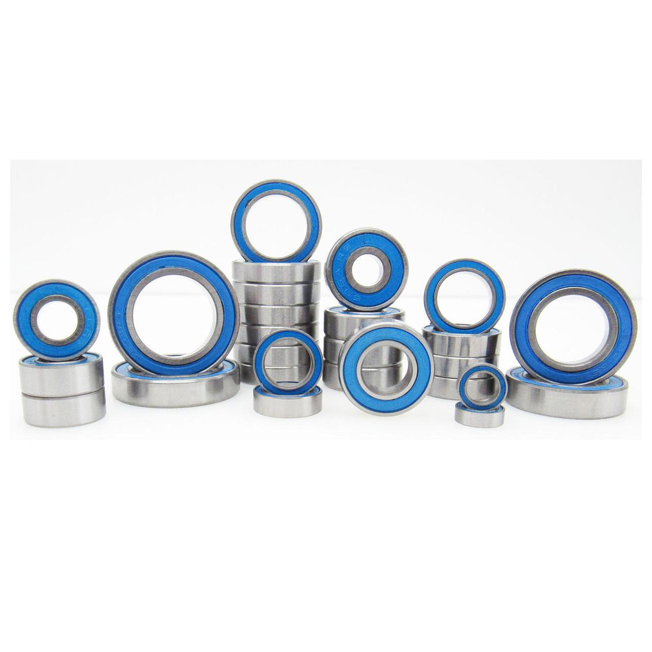 TRB RC Ball Bearing Kit (27) Rubber Seals Blue Traxxas MAXX 4S