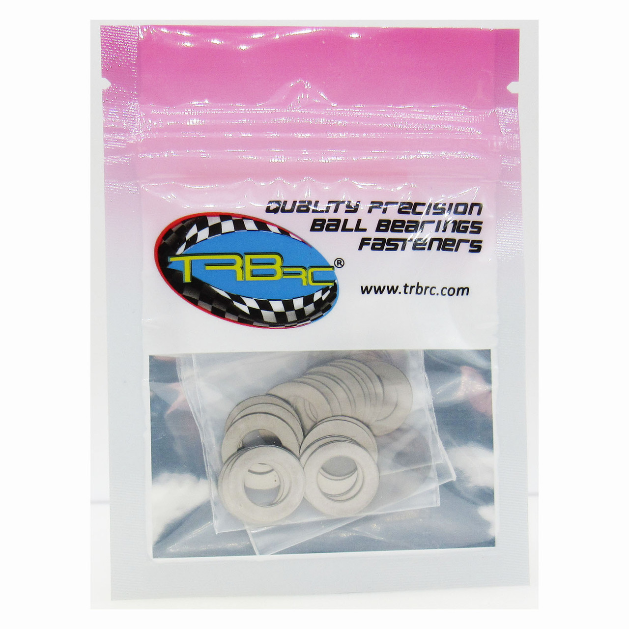 TRB RC M8x14mm Dia. Steel Shim Pack 10ea 0.1, 0.2, 0.3, 0.5mm Width