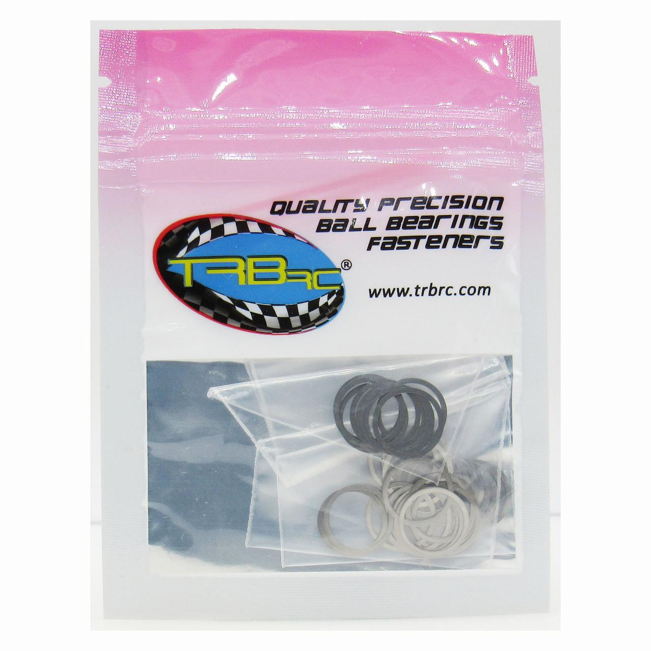 TRB RC M10x12mm Dia. Steel Shim Pack 10ea 0.1, 0.2, 0.3mm Width