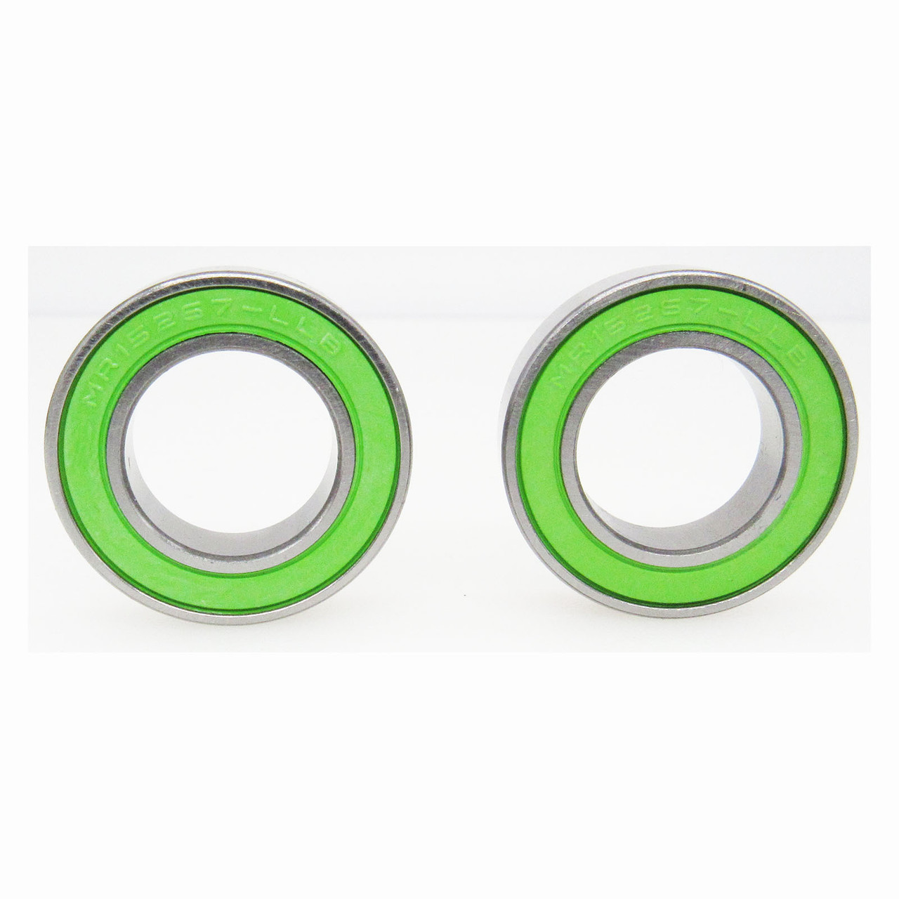 TRB RC 15x26x7mm Precision Ball Bearings ABEC 3 Green Rubber Seals (2)