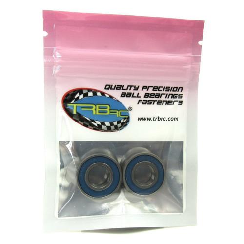 TRB RC 10x22x6mm Precision Ball Bearings ABEC 3 BLU Rubber Seals (2)