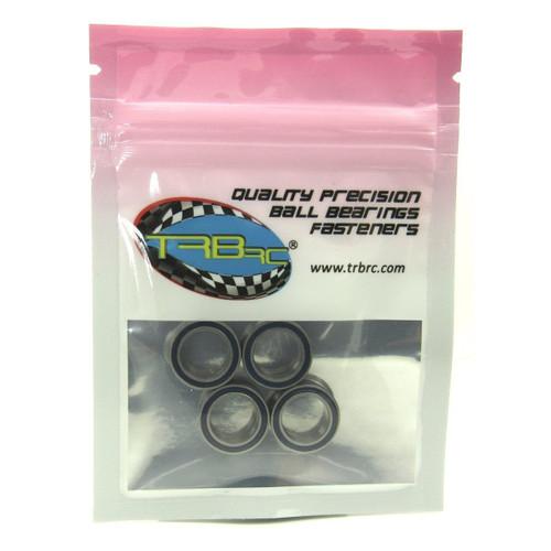 TRB RC 10x15x4mm Precision Ball Bearings ABEC 3 Rubber Sealed BLU (4)