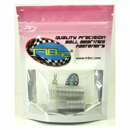 TRB RC Precision Ball Bearing Kit (19) Rubber Sealed YEL Traxxas Rustler XL-5 VXL