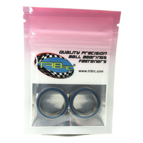 TRB RC 20x27x4mm Precision Ball Bearings ABEC 3 Blue Rubber Seals (2)