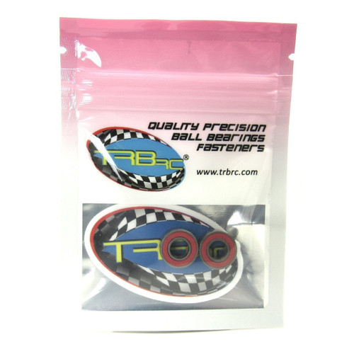 TRB RC 6x13x5mm Precision Ceramic Ball Bearings Red Rubber Seals (2)