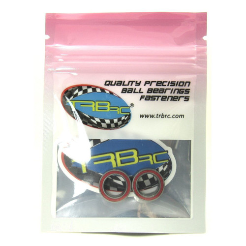 TRB RC 10x15x4mm Precision Ceramic Ball Bearings Red Rubber Seals (2)