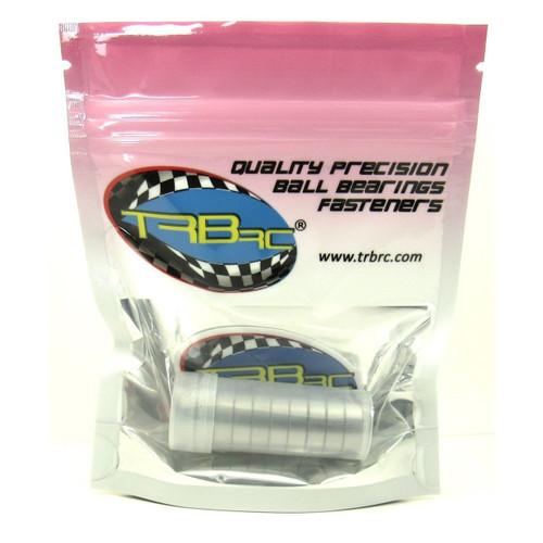 TRB RC 8x16x5mm Precision Ball Bearings ABEC 3 Hybrid Seals RED (10)