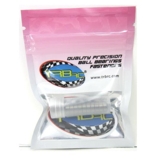 TRB RC 4x8x3mm Precision Ball Bearings ABEC 3 BLU Rubber Sealed (10)