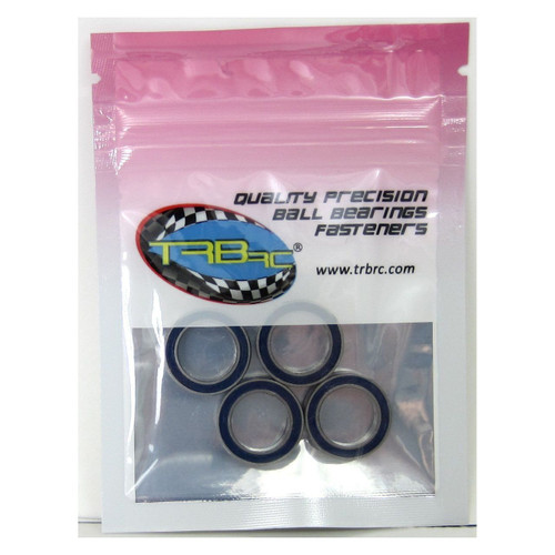 TRB RC 12x18x4mm Precision Ball Bearings ABEC 3 Rubber Sealed BLU (4)
