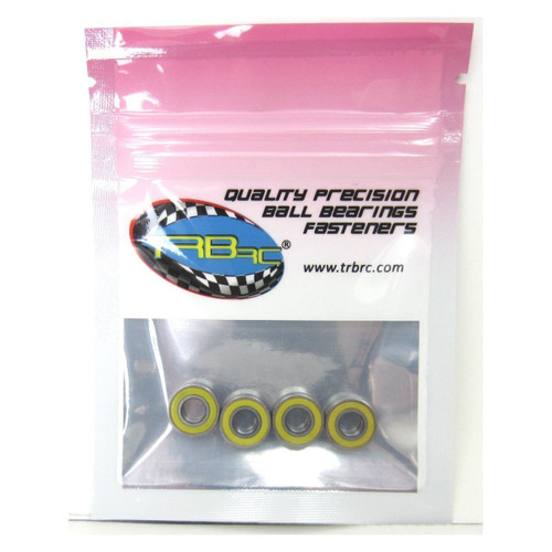 TRB RC 5x11x4mm Precision Ball Bearings ABEC 3 Rubber Sealed YEL (4)