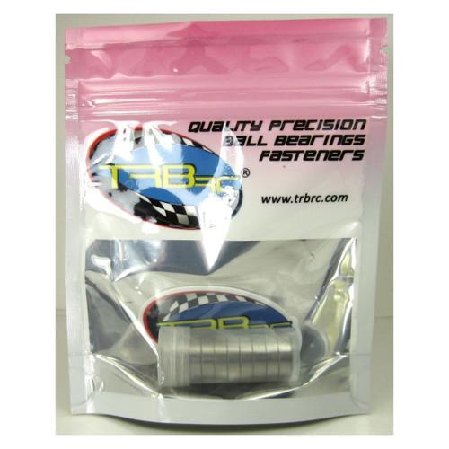 TRB RC 10x15x4mm Precision Ball Bearings ABEC 3 Hybrid Seals RED (10)