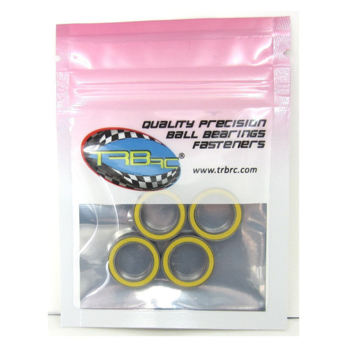 TRB RC 12x18x4mm Precision Ball Bearings ABEC 3 Rubber Sealed YEL (4)