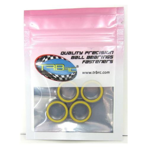TRB RC 12x18x4mm Precision Ball Bearings ABEC 3 Rubber Sealed YEL (4)