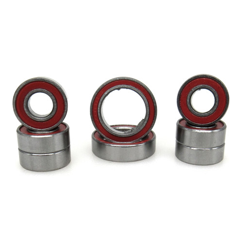 TRB RC Ceramic Wheel Hub Bearing Kit Red Traxxas 4x4 Slash Rustler