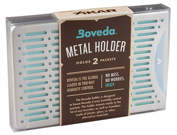 Boveda Metal Holder 2 Packets Stacked mardocigars.com