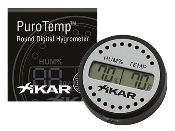 XIKAR Round Digital Hygrometer mardocigars.com