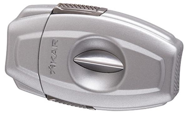 XIKAR VX2 V-Cut Cigar Cutter Silver  mardocigars.com