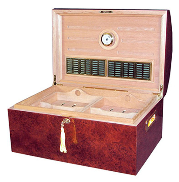 Treasure Dome Desktop Humidor High Gloss Dark Amboyna mardocigars.com