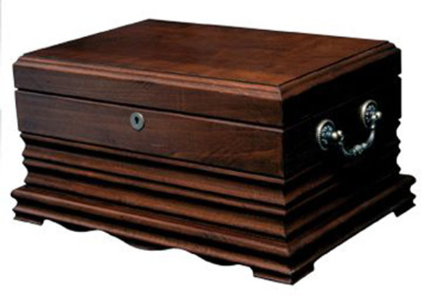 Tradition Desktop Humidor Deep Cherry Wood mardocigars.com