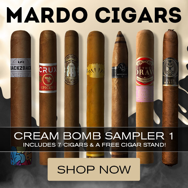 Cream Bomb Cigar Sampler 1 Plus FREE Cigar Stand Mardo Cigars