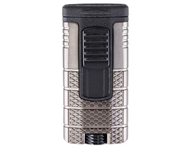 XIKAR Tactical Triple Lighter Gunmetal & Black Mardocigars.com