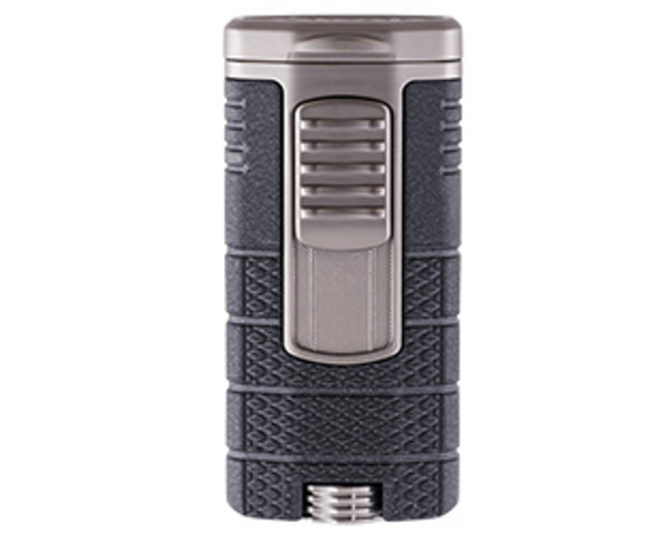 XIKAR Tactical Triple Lighter Black & Gunmetal Mardocigars.com