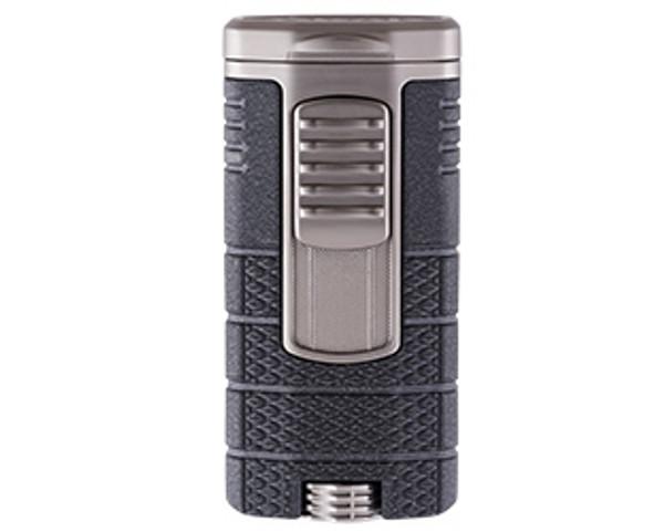 XIKAR Tactical Triple Lighter Black & Gunmetal Mardocigars.com
