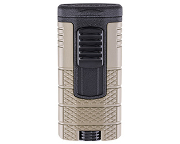 XIKAR Tactical Triple Lighter Tan & Black Mardocigars.com