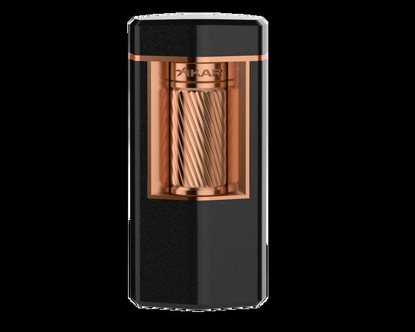 XIKAR Meridian Lighter Black & Rose Gold Mardo Cigars