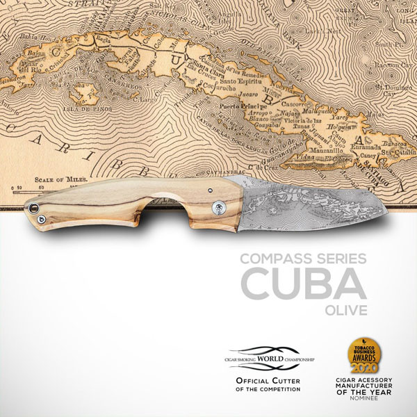 Les Fines Lames - Le Petit Wood Olive Compass Cuba Mardocigars.com