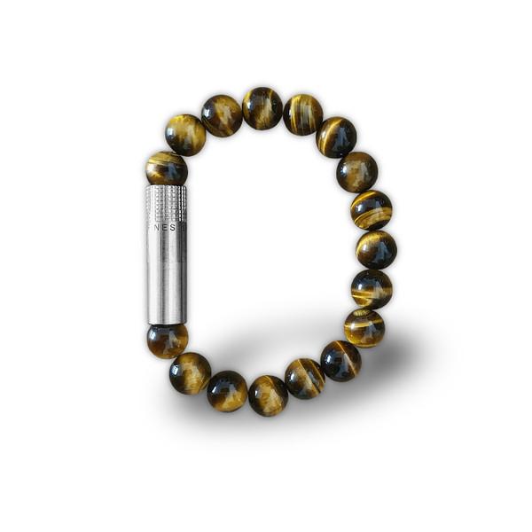 Les Fines Lames - Solo Steel Tiger Eye Punch Bracelet mardocigars.com
