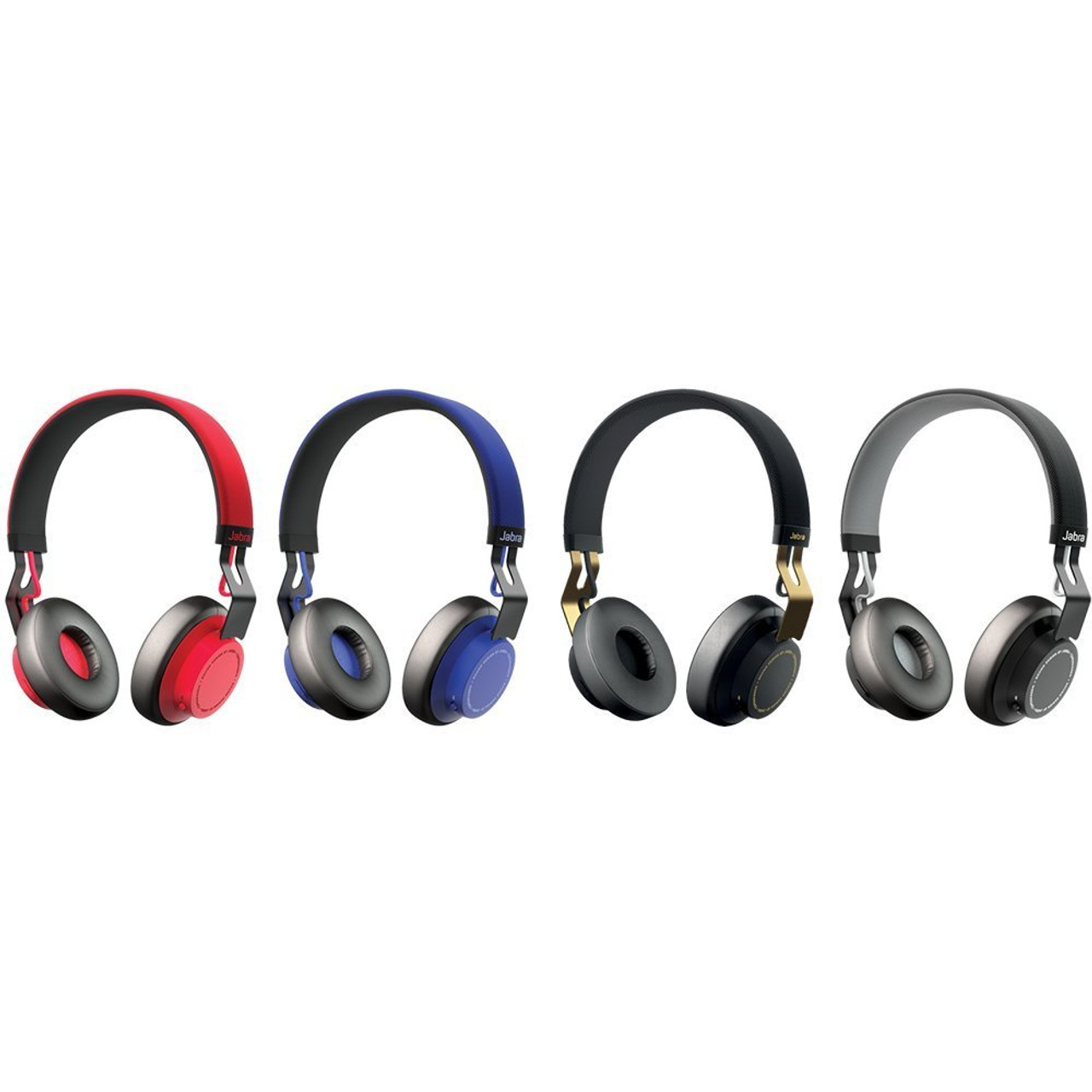 Jabra Move Wireless Bluetooth On Ear Headphones Available In Blue Black Red Fast Click