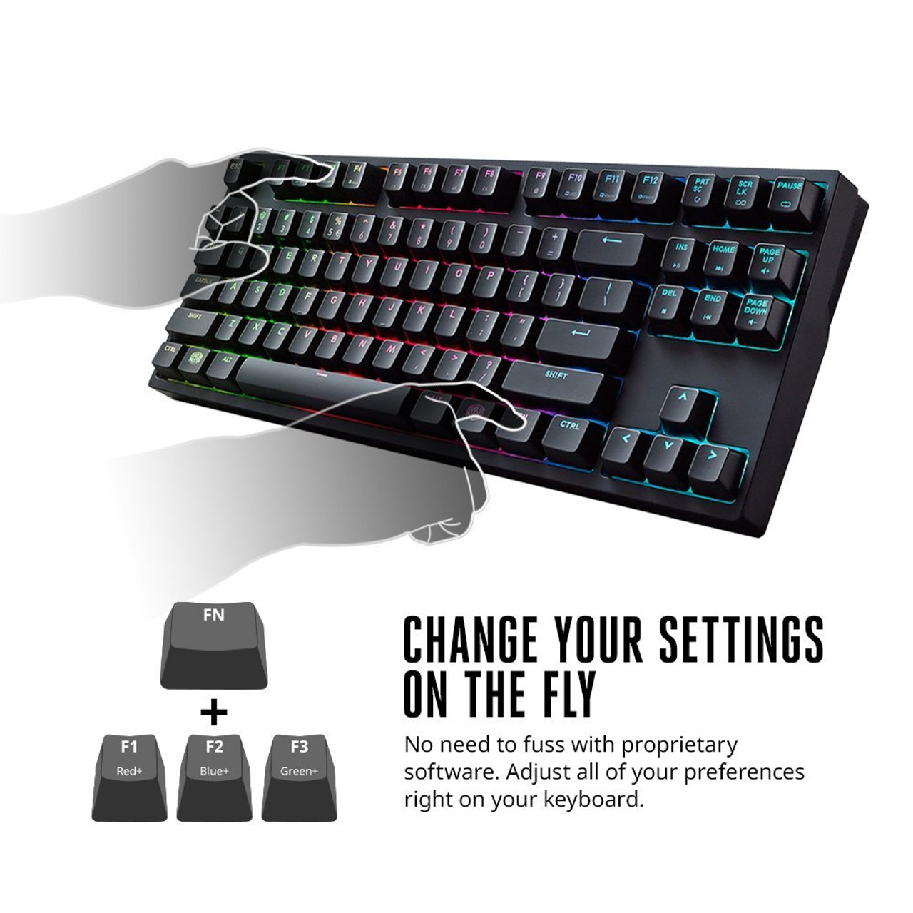 Cooler Master Masterkeys Pro S Rgb Mechanical Gaming Keyboard Corsair K65 Red Switch Cherry Mx Blue Clicky