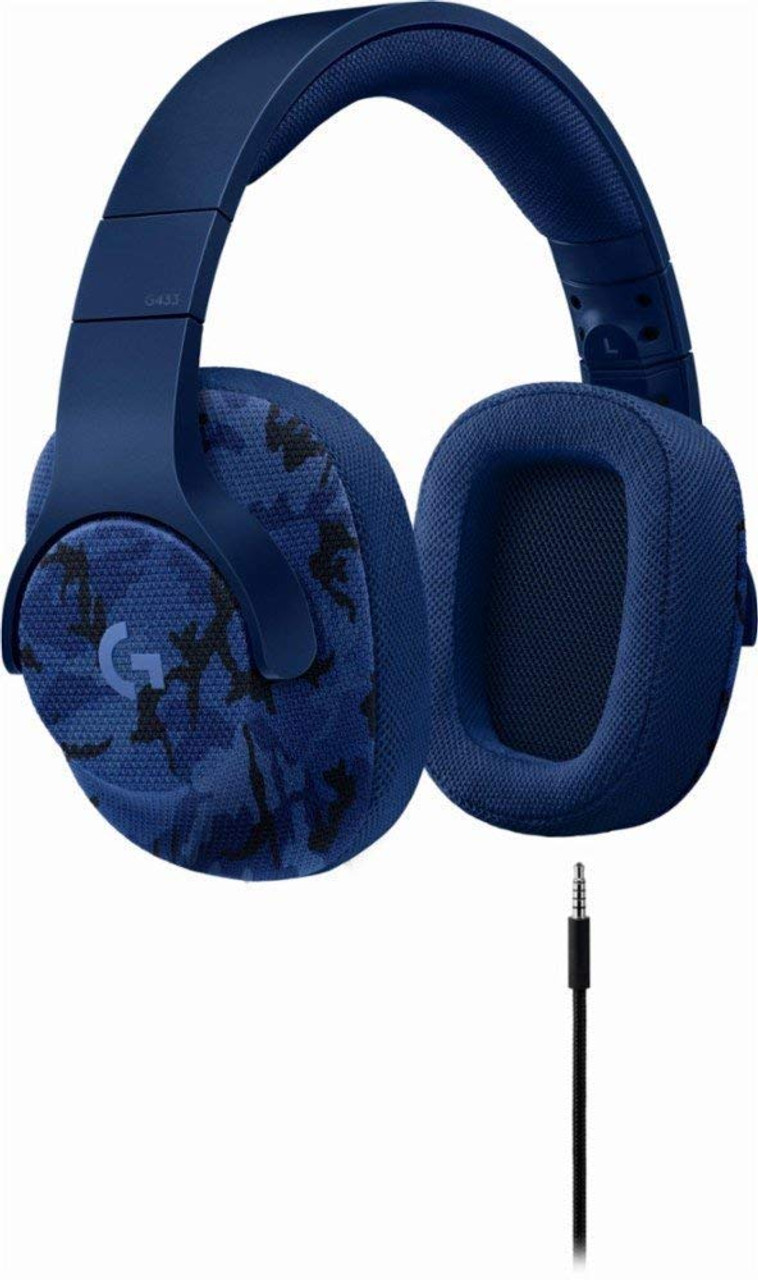 Logitech G433 7 1 Wired Gaming Headset with DTS Headphone: X 7 1 Surround  for PC, PS4, PS4 PRO, Xbox One, Xbox One S, Nintendo Switch – Camo Blue