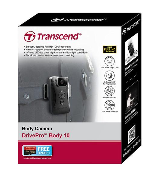 Transcend DrivePro Body 10 Body Camera B&H Photo
