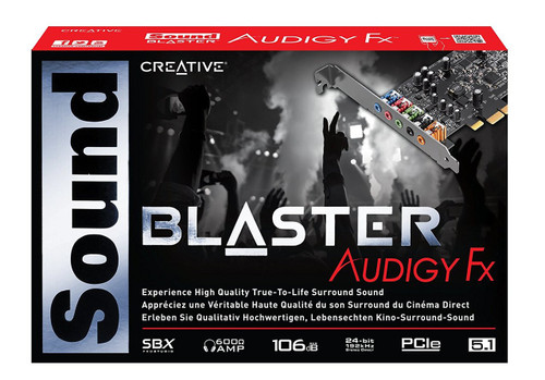Creative Sound Blaster Audigy FX PCIe 5.1 Sound Card with High Performance Headphone Amp