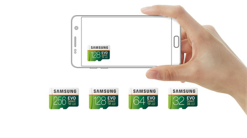 Samsung  MicroSD 32 - 256GB EVO Select Memory Card with Full-Size Adapter -1 Year Warranty