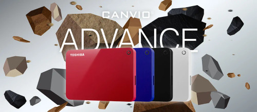 Toshiba Canvio Advance 1TB Portable External Hard Drive USB 3.0 - 2 Years Warranty