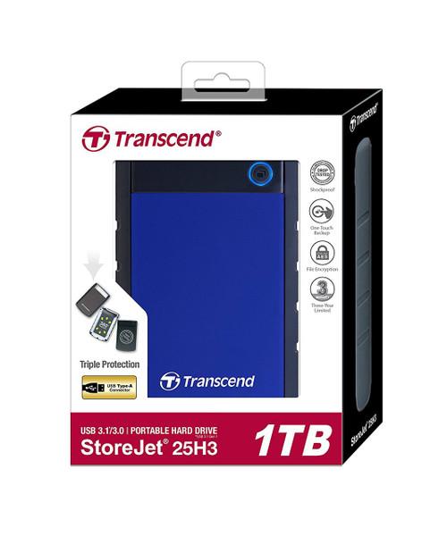 Transcend StoreJet 25H3 USB 3.0 Shock Resistant (Blue)