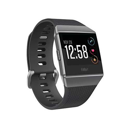 Fitbit Ionic GPS Smartwatch, Charcoal/Smoke Gray, One Size (S & L Bands Included)