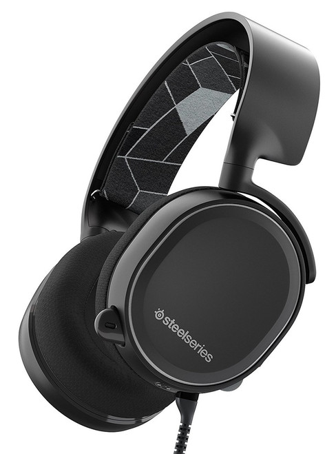 SteelSeries  Arctis 3 All-Platform Gaming Headset for PC, PlayStation 4, Xbox One, Nintendo Switch, VR, Android and iOS - Black