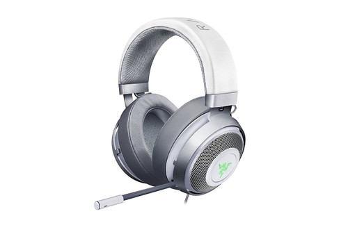 Razer Kraken 7.1 V2 Mercury Edition - Noise Isolating Surround Sound Digital Gaming Over-Ear RGB Headset With Mic - Oval Ear Cushions