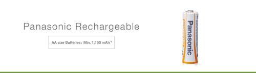 Panasonic Rechargeable AA Battery High capacity for long life