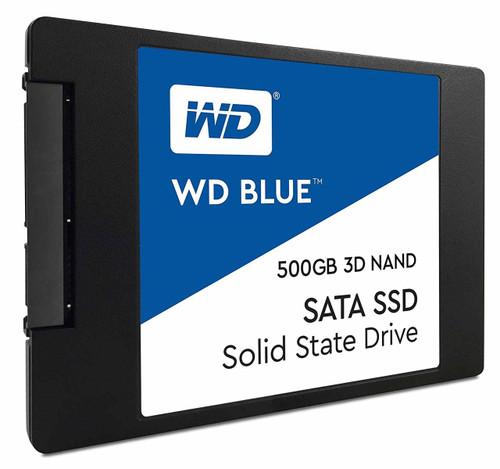 "WD Blue 3D NAND 500GB PC SSD 2280- SATA III 6 Gb/s 2.5""/7mm Solid State Drive -"