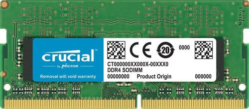 Crucial 8GB Single DDR4 2400 MT/s (PC4-19200) SR x8 SODIMM 260-Pin for Mac - CT8G4S24AM