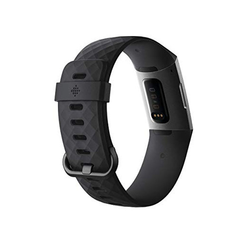 Fitbit Charge 3 Fitness Activity Tracker, One Size (S & L Bands Included) Available in: Graphite/Black, Gold/Blue Grey