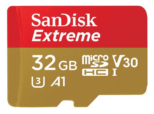 SanDisk Extreme MicroSDHC, V30, U3, C10, A1, UHS- 1, 100MB/s R, 60MB/s W, 4x