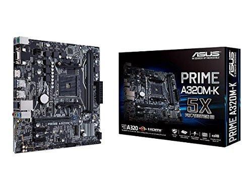 ASUS PRIME A320M-K AMD Ryzen AM4 DDR4 HDMI VGA M.2 USB 3.1 Micro-ATX Motherboard - 1 Year Warranty