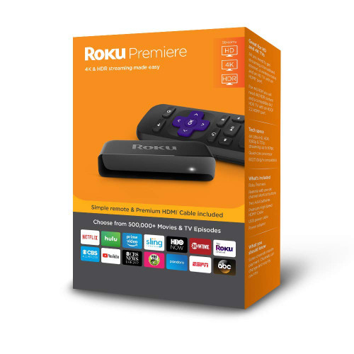 Roku Premiere   HD/4K/HDR Streaming Media Player with Simple Remote and Premium HDMI Cable